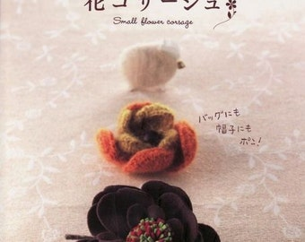 Small flowers coursage Jewelry Japanese Magazine, ebook Pattern, Instant Download, PDF (RM051)
