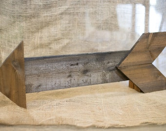 """Cedar Wooden Arrow - Perfect for a gallery wall! Approximately 24"""" long and 10"""" tall"""