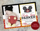 Classic Mickey Mouse Birth Announcement