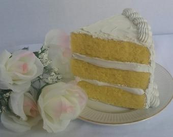 Vanilla Cake Slice - FakeFood That Looks Real!