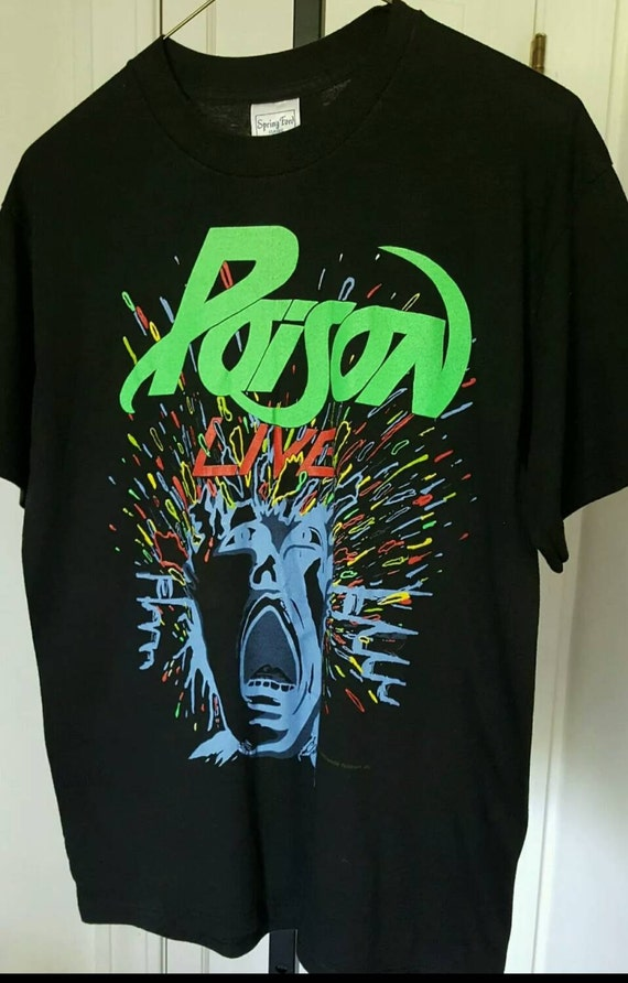 Poison Band T Shirt Large By Resouledgypsy On Etsy