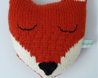 Handknitted fox