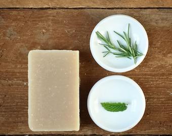 No. 5 ORGANIC SHAMPOO BAR | Palm-Free Rosemary Mint Shampoo Bar Soap | Natural Shampoo