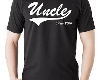 Gift For Uncle T-Shirt New Uncle 2016 Tee Shirt Baby Shower T-Shirt