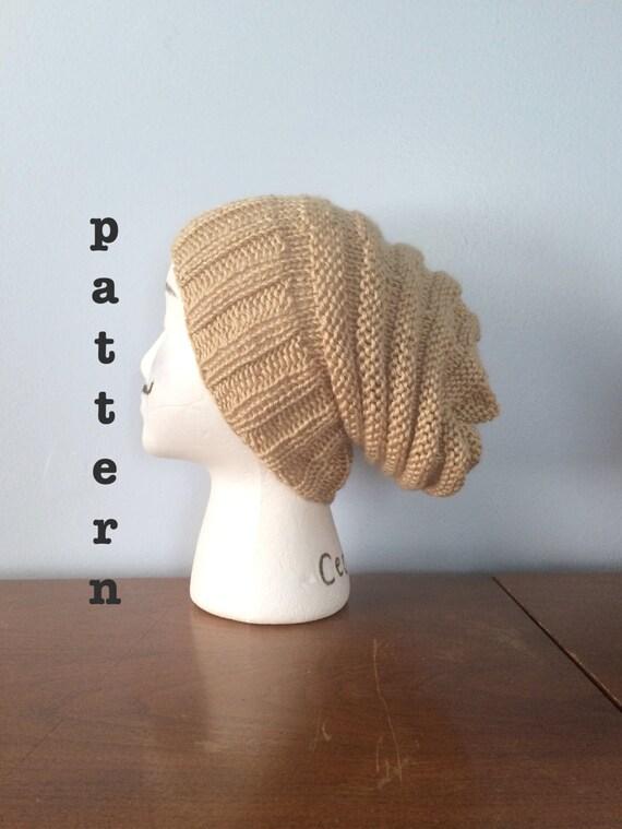 Beehive Hat Knitting Pattern : PATTERN Beehive Knit Beanie Knit Beehive Hat Patterns