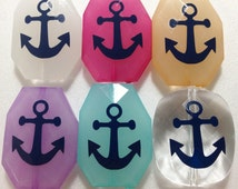 Navy Blue Anchor Beads in 16 Color Choices! Faceted, Gorgeous Beads - Pick your and color!