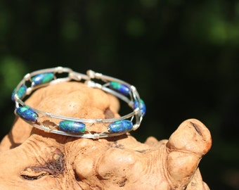 Azurite/malachite bracelet