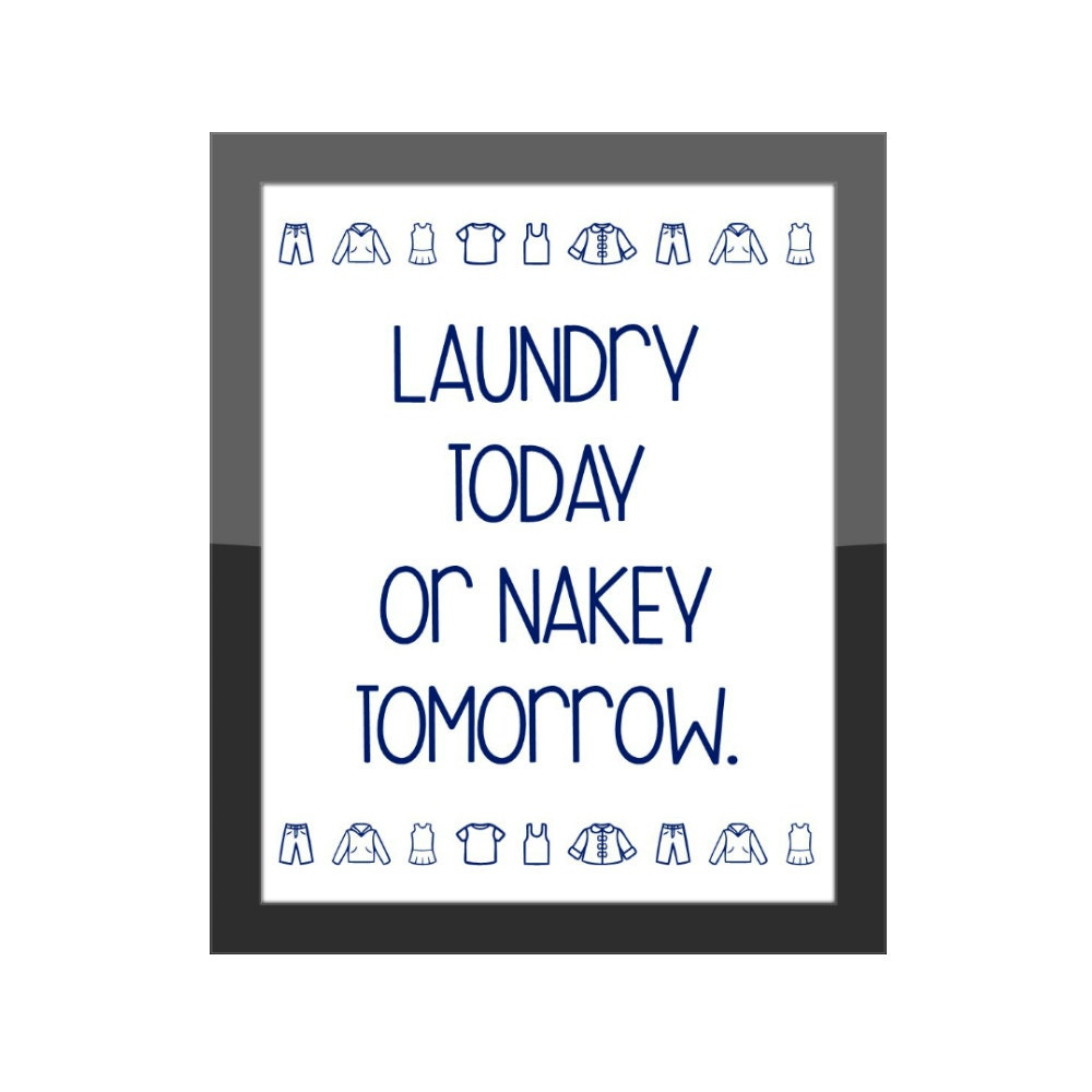 Funny laundry room decor print home decor wall by ashalamode for Funny home decor