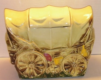 McCoy Pottery Covered Wagon Cookie Jar