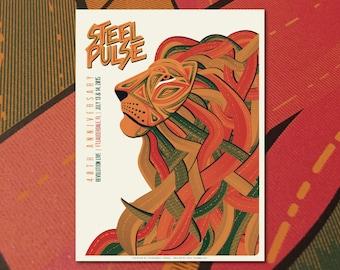 Steel Pulse Ft. Lauderdale Concert Gig Poster