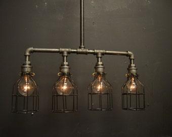 steampunk industrial ceiling light industrial pipe light. Black Bedroom Furniture Sets. Home Design Ideas