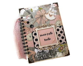 Vintage Style Baby Memory Book - Baby Girl Journal Book - Baby Journal Book - Personalized Diary - Baby Diary - Cute Spiral Notebook