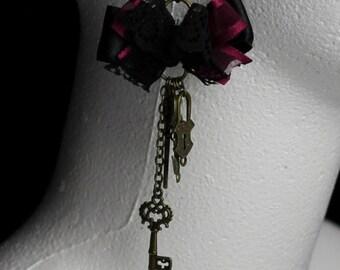 Scissors/Birds/Keys - Steampunk Charm Earrings