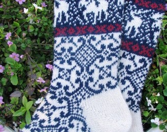 knit socks Wool socks knitted socks Norwegian socks Christmas socks Winter socks Warm socks gift to man gift to men socks Women socks