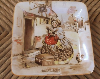 SAIREY GAMP ....4 x 4 Inch Tray...Vintage...Made in Staffordshire England...Selling As Is