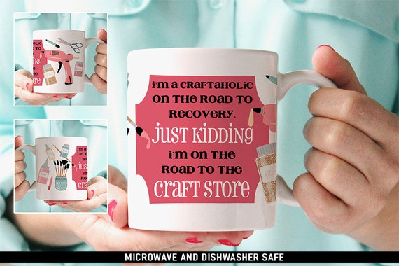 Coffee Mug Crafting Junkie Coffee Mug - Gift For Crafter - Funny Crafting Coffee Mug