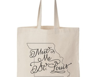 St. Louis MO, Wedding Welcome Tote Bag