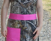 Reversible Women's Apron with Headband | Pink Camo | 100% Cotton | Handmade | Full Apron | REALTREE®Camouflage | Ladies Apron | With Pockets