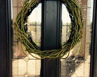 Willow wreath 12, 18, 24, or 36 inches in diameter