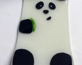 Panda Fused Glass Sushi Plate
