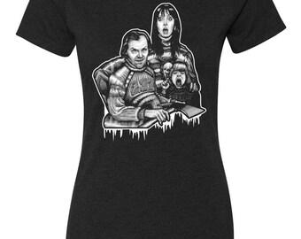 The Shining Women's T-Shirt Design Stephen King Horror Movie Classic