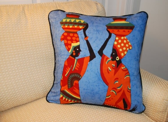 Great Time To Chat Batik Pillow Cover