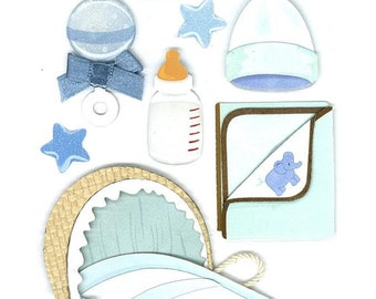 Jolee's Boutique Dimensional Stickers It's A Boy, Baby Boy Stickers