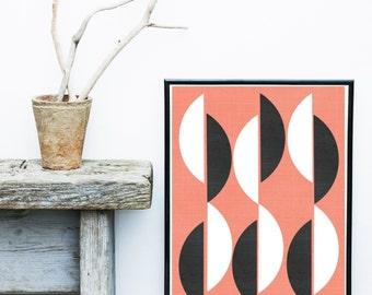 Abstract Art Print, Printable Art, Geometric Art Print, Scandinavian Art, Mid Century, Wall Decor, Wall Art, Digital Download