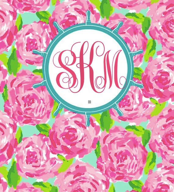 Lilly Pulitzer Monogrammed Printable Binder Cover Nautical