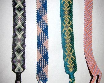 Xs, Tribal Pattern, Stripes or Zig Zag Woven Friendship Bracelet Choose Your Design