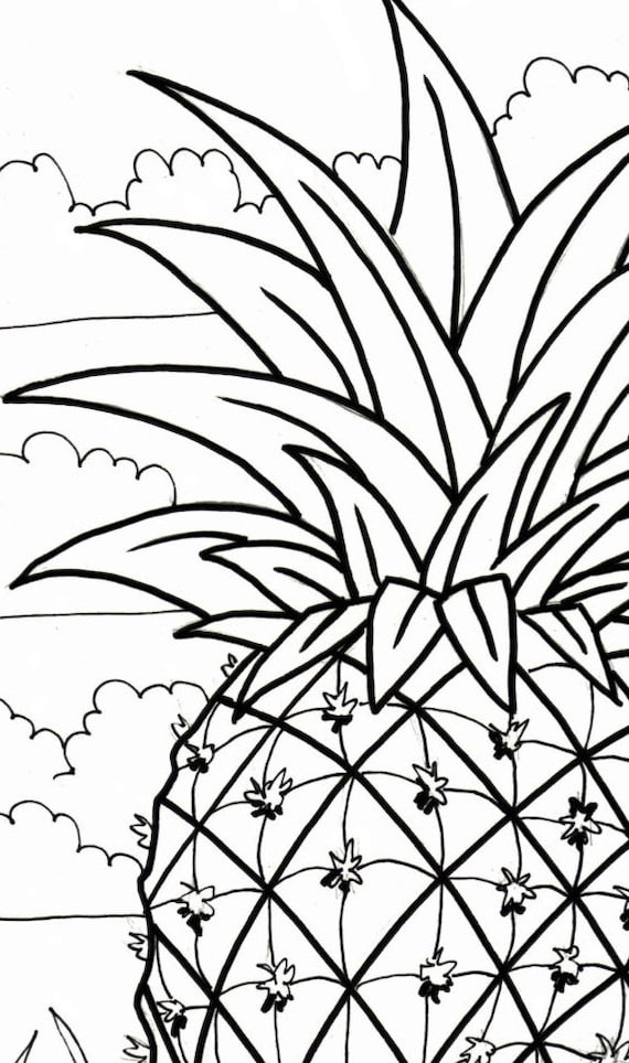 Download Pineapple Coloring Page Free Or Print