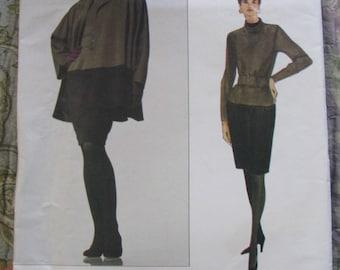 Vogue Geoffrey Beene UNCUT size 6, 8, 10 Women's Jacket / Coat & Dress Pattern # 2983