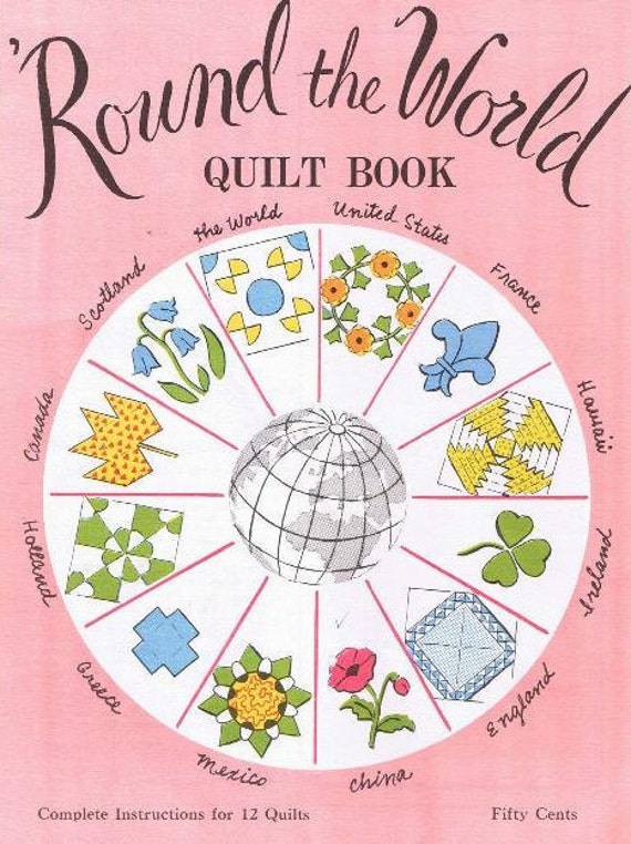Quilting Patterns Quilt Book Round the World Quilting