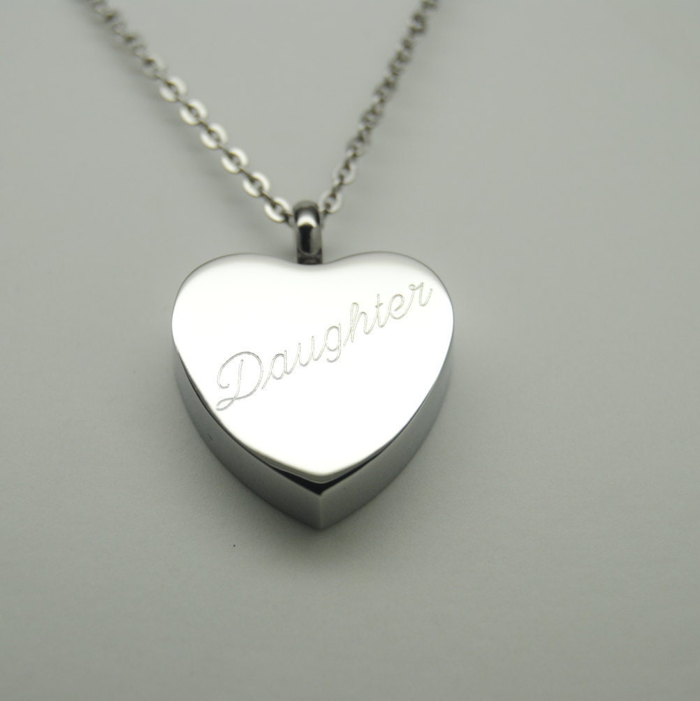 daughter cremation jewelry silver heart cremation daughter urn