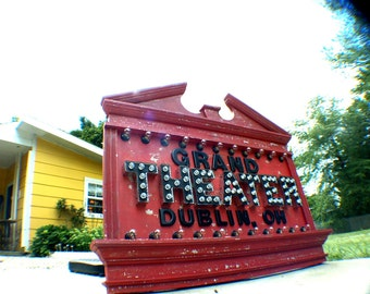 ART GRAND THEATER  Vintage Marquee Art Commercial
