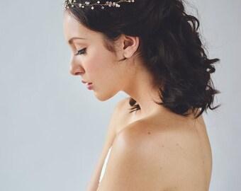 Bridal Hair Wreath | Wedding Hair Vine | Pearl Hair Vine | Wedding Hair Piece | Crystal Hair Wreath | Boho Hair Vine [Ilse Hair Wreath]