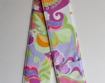 DSLR or SLR Camera Strap Cover- lens cap pocket and padding - Extravaganza Floral in Multi