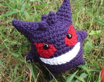 READY TO SHIP - Chibi Pokemon Amigurumi - Gengar. Pokemon Plush. Gengar Plush. Ghost Pokemon. Gengar Crochet. Gengar Amigurumi. Anime Gift.