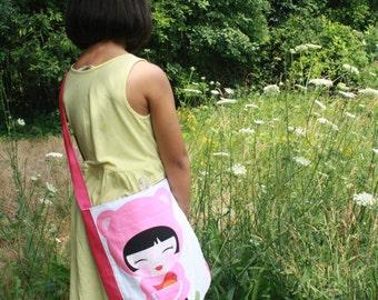 SHOP SALE****Pinkie Doll girls purse- kids over shoulder purse