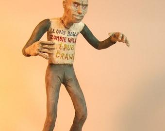 Zombie Walking Dead Sculpture