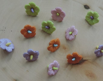 Hawaiian Flower Buttons, Novelty Button Assortment Package by Buttons Galore, Shank Back Buttons, Sewing, Crafting Embellishments