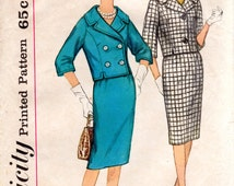 1960s Jackie Kennedy Style Suit Pattern - Vintage Simplicity 3826 - B31