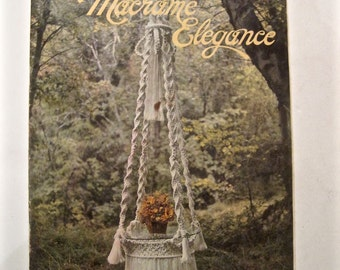 Macrame Elegance Plant Hangers Pattern Book - Retro DIY Pot Hangers to Knot