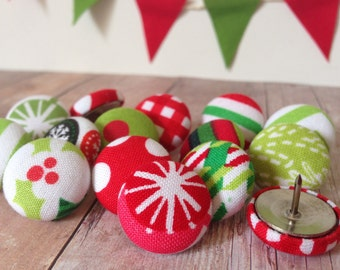 Thumb Tacks,15 Thumbtacks,Pushpins,Push Pins,Home Decor,Office Supplies,Christmas Decor,Stocking Stuffer,Christmas,Teacher Gift,Holiday Gift