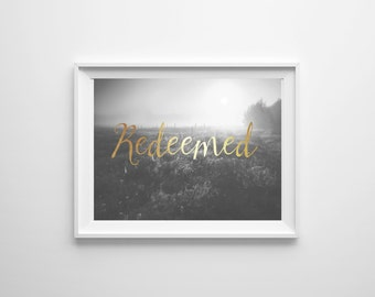 Redeemed Downloadable Print