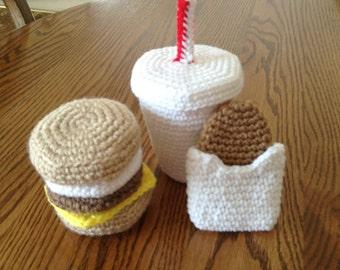 Crochet McDonald's Breakfast Set, Made to Order