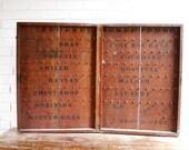 Vintage Handmade School Key Rack - Janitorial Key Box - Industrial Decor