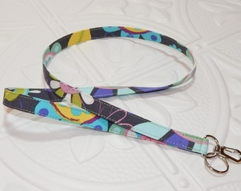 Lanyard Key Lanyard Teacher Lanyard Charcoal Gray Blue Green