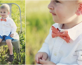 Boys Bow Tie - Boy orange bow tie - boys photo prop