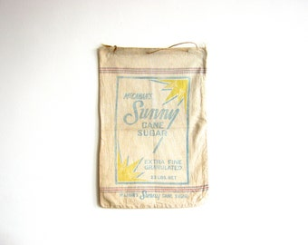 Vintage Mid Century American Cane Sugar Sack - Good Housekeeping